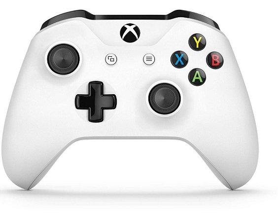 Controle Wireless Original Microsoft - Branco (Xbox One/S)