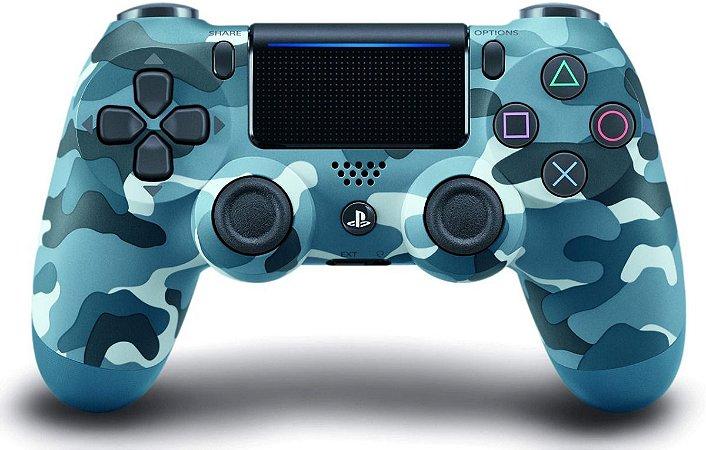 Controle Dualshock 4 - Camuflado Azul