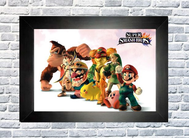 Quadro Smash Bross