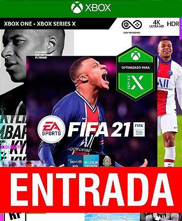 FIFA 21 - Xbox One (pré-venda) [ENTRADA] o restante de cem reais você só paga quando o jogo chegar.