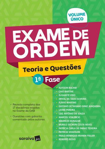 EXAME DE ORDEM - TEORIA E QUESTÕES - 1ª FASE