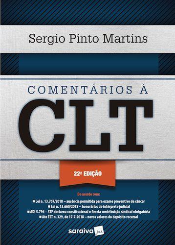 COMENTARIOS A CLT 22° EDICAO