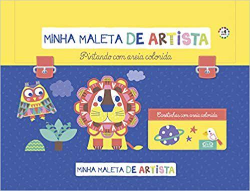 MINHA MALETA DE ARTISTA PINTANDO COM AREIA COLORIDA