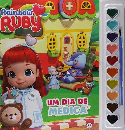 LIVRO PARA COLORIR COM AQUARELA - RAINBOW RUBY