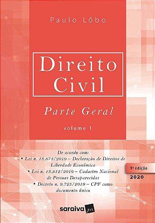 DIREITO CIVIL PARTE GERAL VOL.1