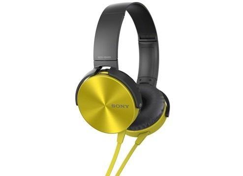 HEADPHONE SONY MDR-XB450AP COM EXTRA BASS - Dourado