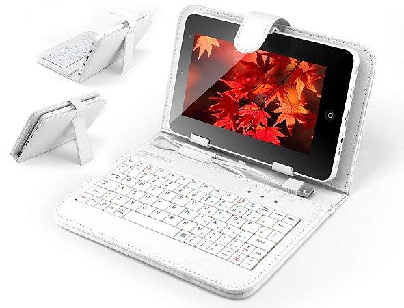 Teclado com Tela Protetora Powerpack TEC-IP70.WH