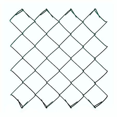 Tela Alambrado Revestida com PVC VERDE Fio 14 (2,80mm) - Rolo 20m