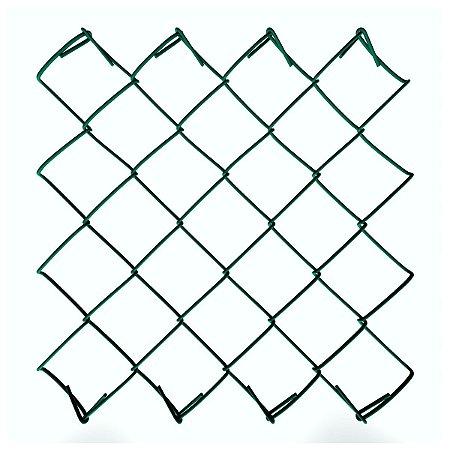 Tela Revestida em PVC VERDE Fio 12 (3,80mm) - Rolo 20m