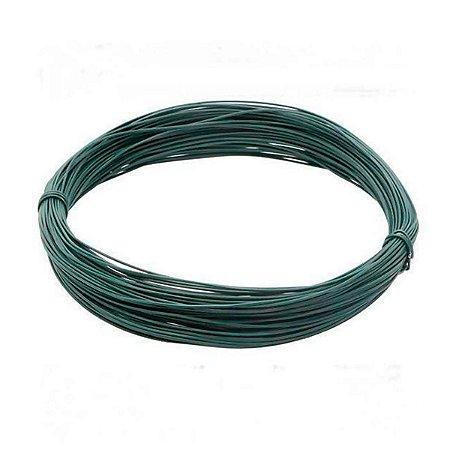 Arame BWG 12 com revestimento em PVC verde - 1kg (18m)
