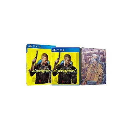 Cyberpunk 2077 + Steelbook - Usado - PS4