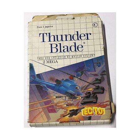 Thunder Blade - Usado - Master System