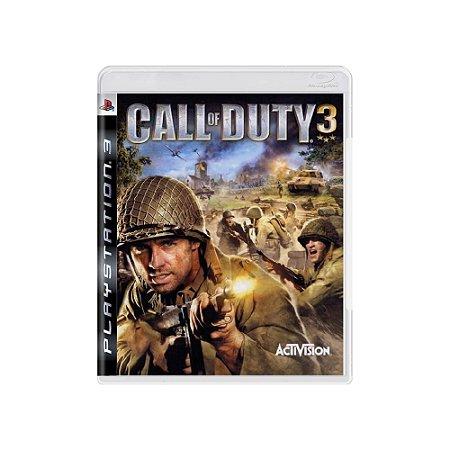 Call of Duty 3 - Usado - PS3