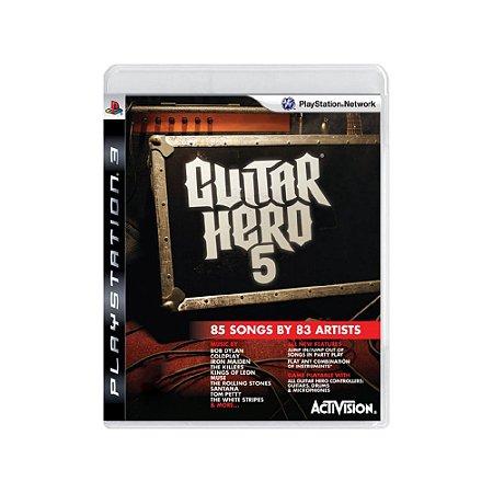 Guitar Hero 5 - Usado - PS3