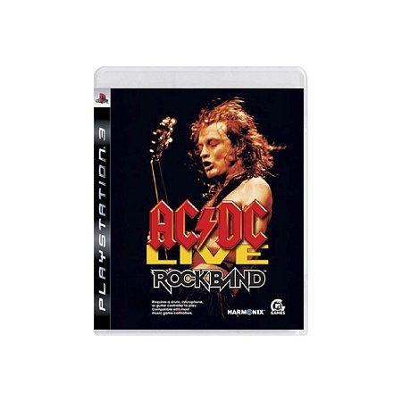 AC/DC Live Rock band - Usado - PS3