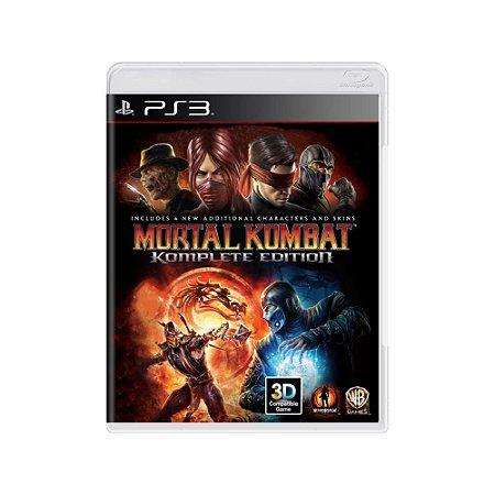 Mortal Kombat (Komplete Edition) - Usado - PS3