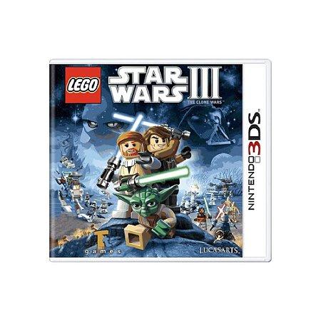 Jogo Lego Star Wars III: The Clone Wars - |Usado| - 3DS