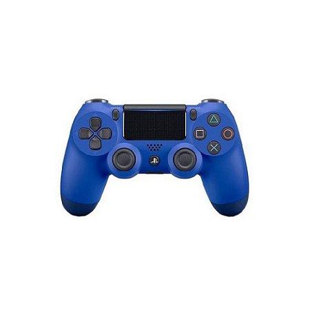 Controle Sony Dualshock 4 Azul Ola sem fio (Com LED frontal) - PS4