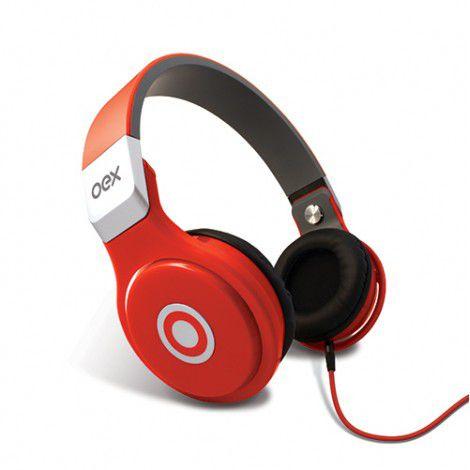 Headset Oex Headphone Groove Vermelho Hp102 - PS4