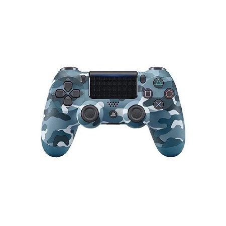 Controle Sony Dualshock 4 Azul Camuflado - PS4