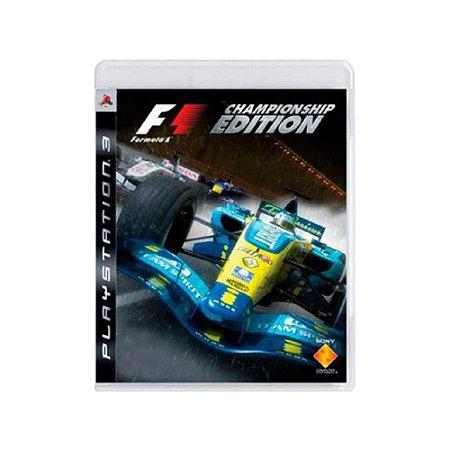 Formula One (Championship Edition) - Usado - PS3