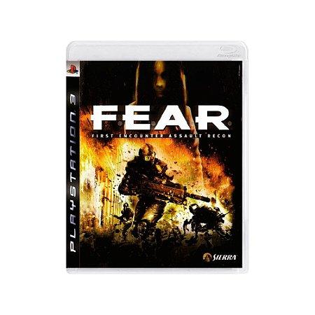 F.E.A.R First Encounter Assault Recon - Usado - PS3