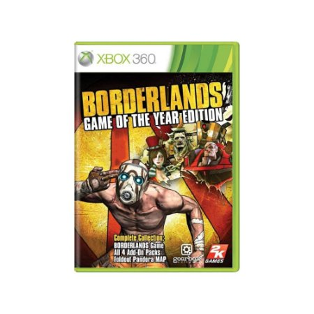 Borderlands (Game of the Year Edition) - Usado - Xbox 360