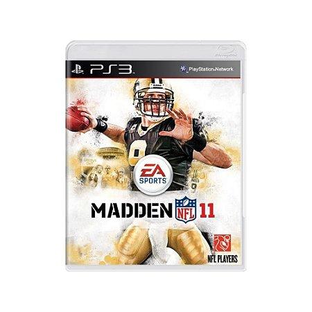 Madden NFL 11 - Usado - PS3