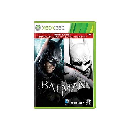 Batman Arkham Asylum + Batman Arkham City - Usado - Xbox 360