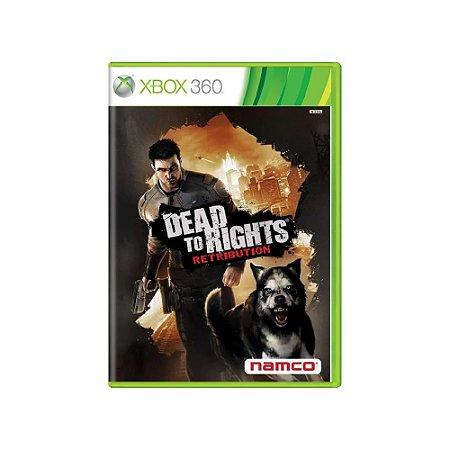 Dead To Rights: Retribution - Usado - Xbox 360