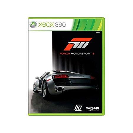 Forza Motorsport 3 - Usado - Xbox 360