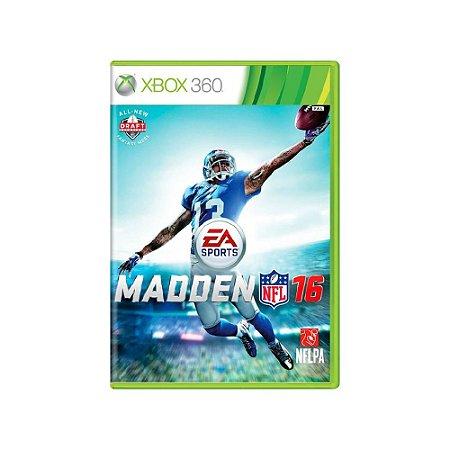 Madden NFL 16 - Usado - Xbox 360
