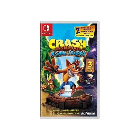 Crash Bandicoot N. Sane Trilogy - Usado - Switch
