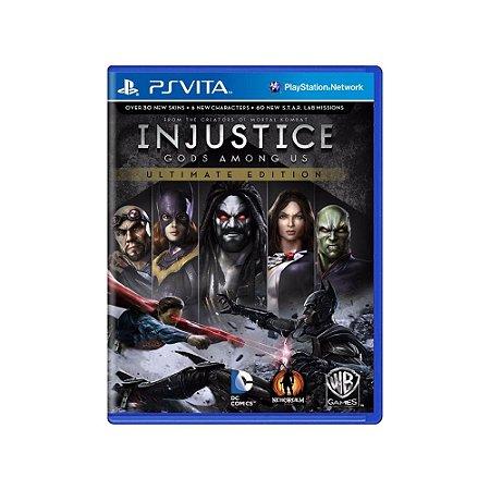 Injustice Gods Among Us (Ultimate Edition) - Usado - Ps Vita