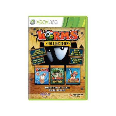 Worms Collection - Usado- Xbox 360
