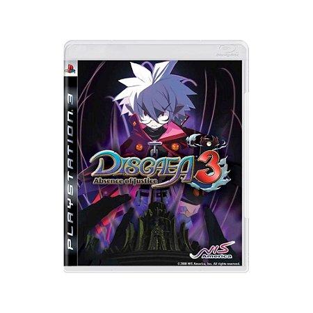 Disgaea 3: Absence of Justice - Usado - PS3