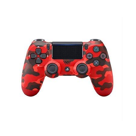 Controle Sony Dualshock 4 Vermelho Camuflado - PS4