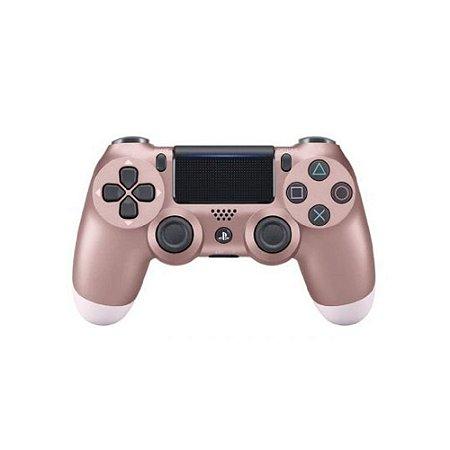 Controle Sony Dualshock 4 Rosa Dourado - PS4