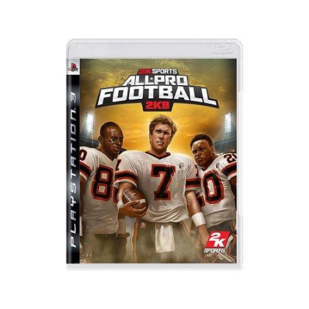 All-Pro Football 2K8 - Usado - PS3
