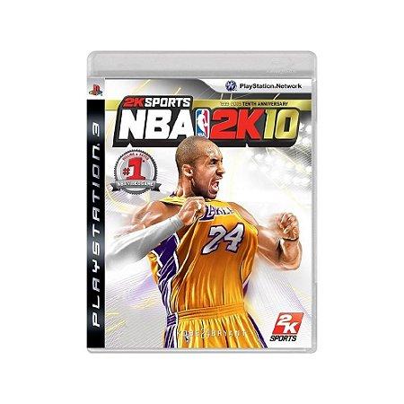 NBA 2K10 - Usado - PS3