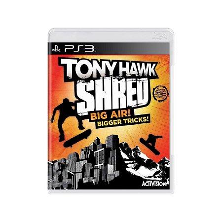 Tony Hawk Shred Big Air! Bigger Tricks! - Usado - PS3