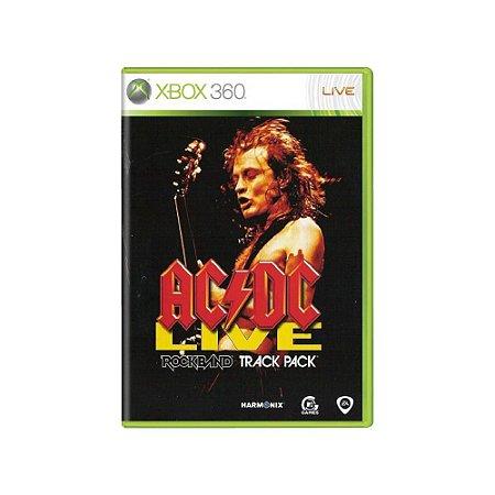 AC/DC Live Rock Band Track Pack - Usado - Xbox 360