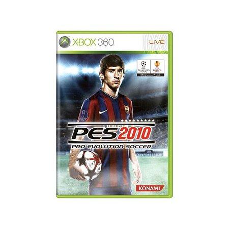 Pro Evolution Soccer 2010 PES 10 Europeu - Usado - Xbox 360