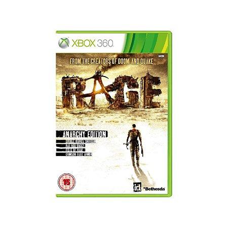 RAGE Anarchy Edition - Usado - Xbox 360