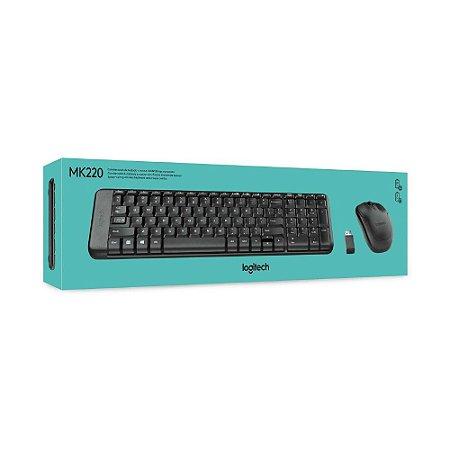 Teclado e Mouse Wireless MK220 - Logitech