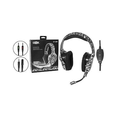 Headset Cinza Dex DF-509