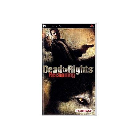 Dead to Rights Reckoning (Sem Capa) - Usado - PSP