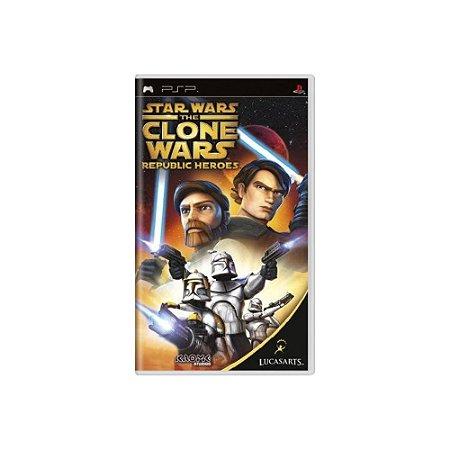 Star Wars The Clone Wars Republic Heroes - Usado - PSP