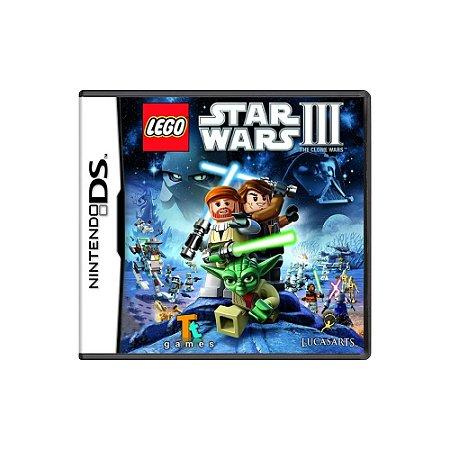 Lego Star Wars III The Clone Wars - Usado - DS