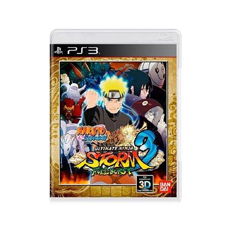 Naruto Shippuden Ultimate Ninja Storm 3 Full Burst Usado PS3